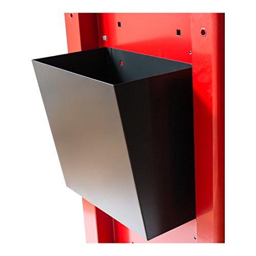 STIER Papierkorb für den STIER Werkstattwagen leer, Farbe Anthrazit, zur Aufnahme von Abfall,...