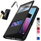 ETUI HOUSSE COQUE Noir Asus Zenfone 4 Max Plus ZC554KL ( 5.5') / Zenfone 4 Max Pro ZC554KL + Film verre Trempé + Stylet...