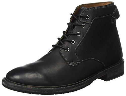 Clarks Herren Clarkdale Bud Klassische Stiefel, Schwarz (Black Leather), 45 EU