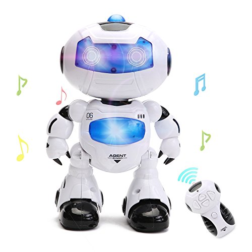 HANMUN Electronic RC Robot Learning Toys Xq16006 Toddler Intelligent Action Dancing Remote Control Robot Toys with Music Lights for Kids Girls Boys Chritsmas Gift
