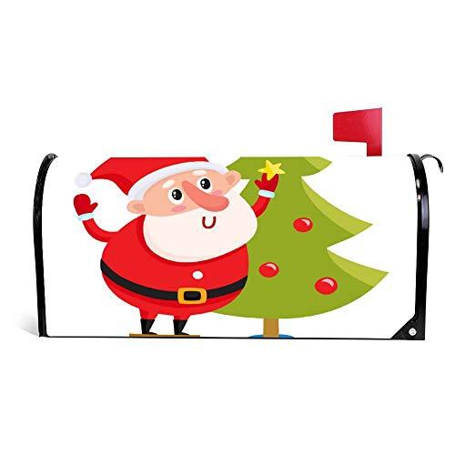 Wendana Leuke En Grappige Kerstman Het verfraaien van een kerst brievenbus Cover Magnetische Vinyl Thuis Tuin Decor Mailbox Wrap Post Brievenbus Cover 18