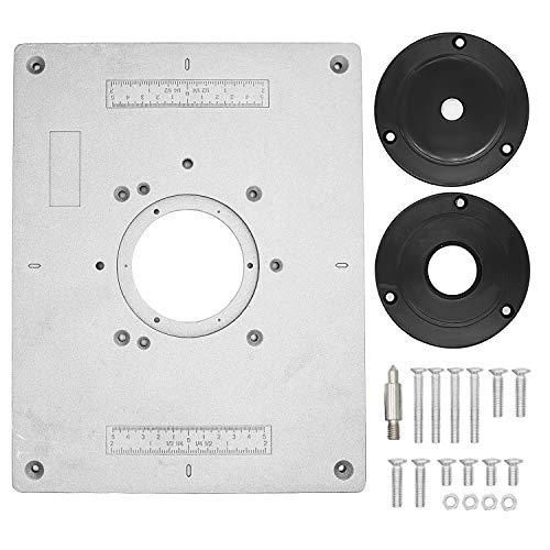 Tabla De Enrutador Universal Adaptador De Aleación De Aluminio Placa Placa De Inserción Kit De Placa Base Para Bancos De Carpintería Con Herramienta Auxiliar - 300 * 235 * 9.5 Mm