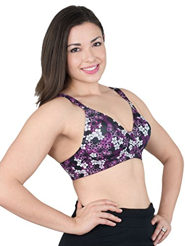 LEADING LADY Molded Padded Seamless Wirefree Bra, Cherry Blossom, 52F