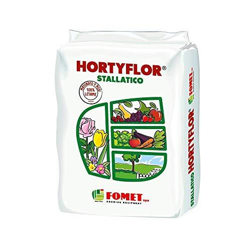FOMET - Hortyflor Concime Organico Biologico Stallatico (Letame) umificato 9 Mesi 5kg