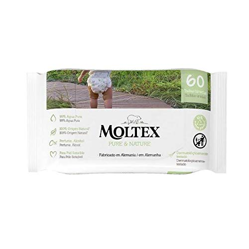 Toallitas Moltex Pure & Nature 60 Uds