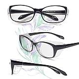 JO(ジ―オ―) 花粉メガネ レディース おしゃれ 眼鏡 花粉症 防塵 ドライアイ 対策 防止 UVカット グラス めがね 軽量 女性 花粉症対策 サングラスLG102 (ブラック)