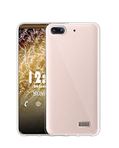 Sunrive Cover per Honor 4C/Huawei G Play Mini, Custodia Case in Molle Trasparente Silicone Morbida Flessibile AntiGraffio Protettiva Back custodie(TPU Nessuna Immagine)