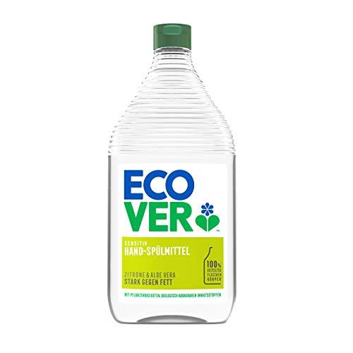 Ecover Hand-Spülmittel Zitrone & Aloe Vera (950 ml), nachhaltiges Spülmittel mit Zuckertensiden, kraftvoller Fettlöser, Geschirrspülmittel flüssig und auf pflanzlicher Basis