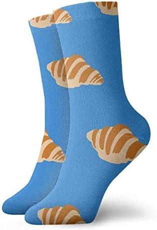 Heren en damessokkenCroissant Kleurrijke grappige nieuwigheid Crew sokken