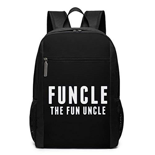 ZYWL Funcle, The Fun Onkel Laptop Rucksack, Reiserucksäcke School College Bookbag für Frauen und Männer 17 Zoll
