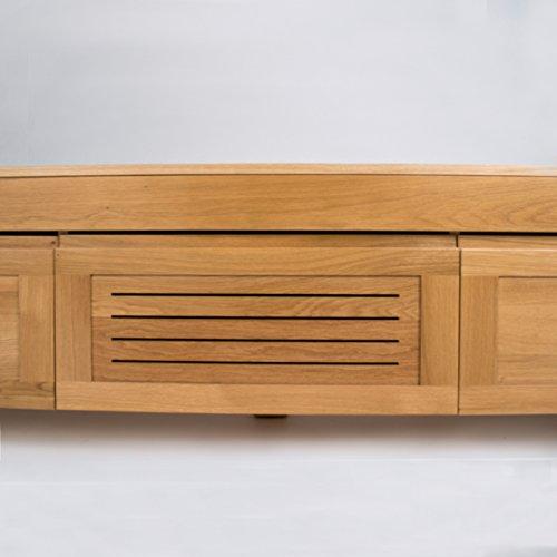 """treesure Lowboard """"B"""" Eiche massiv, Massivholzlowboard, Sideboard, Wohnwand, Kommode Wohnzimmerschrank, TV Möbel, TV Schrank - 4"""