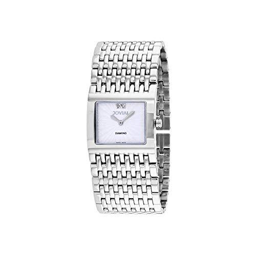 Jovial Damen-Armbanduhr Diamant Quarz Mineralglas 08037-MSM-02