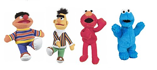 United Labels Pack 4 Peluches Barrio Sesamo EPI, BLAS, Elmo Y TRIKI