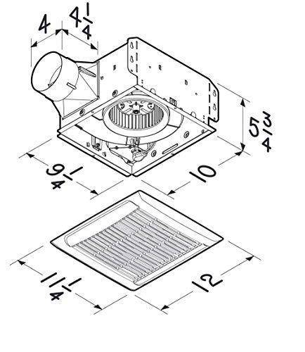 Broan-NuTone AEN110 Invent Energy Star Certified Single-Speed Ventilation Fan, 110 CFM 1.0 Sones, White