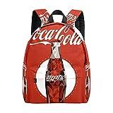 Mochila para niños, vintage, botella de coca cola, bolsa escolar, ligera, duradera, para viajes, con bolsillo para botella de agua