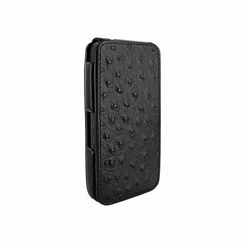 Piel Frama U615AVB iMagnum Hülle mit Magnetverschluss in Strausslederoptik für BlackBerry Z10 schwarz