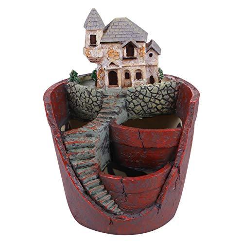 UPKOCH Maceta para plantas creativas, mini hada, jardín, flores, macetero para bricolaje, interior y exterior, decoración de café