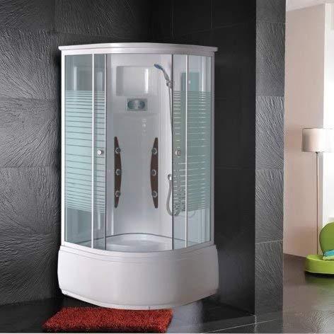Bagno Italia Box doccia idromassaggio 90x90 cm cabina multifunzione con 6 getti vasca anti-scivolo I