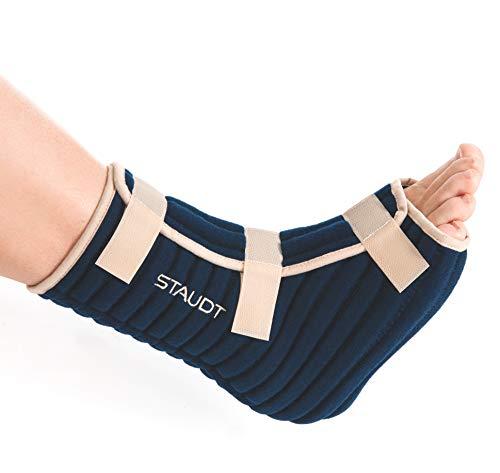 Staudt Knöchel Manschette Active L (Paar) | Nachts getragene Bandage zur Linderung von Knöchelschmerzen mittels Mikro-Massage bei Nacht