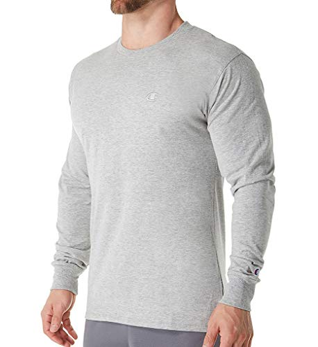Champion Men's Classic Jersey Long Sleeve T-Shirt, Oxford Gray, XX-Large