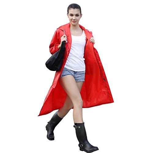 QXYOUNGB ondoordringbare regenjas vrouwen/mannen waterdichte trug jas Poncho dubbellaagse regenjas vrouwen regenkleding regenkleding uitrusting Poncho kamp parken materiaal Polyester