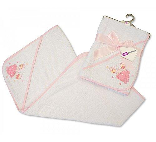 E&A Serviette à capuche bébé fille garçon en coton doux 0 mois – Cupcake & zèbre