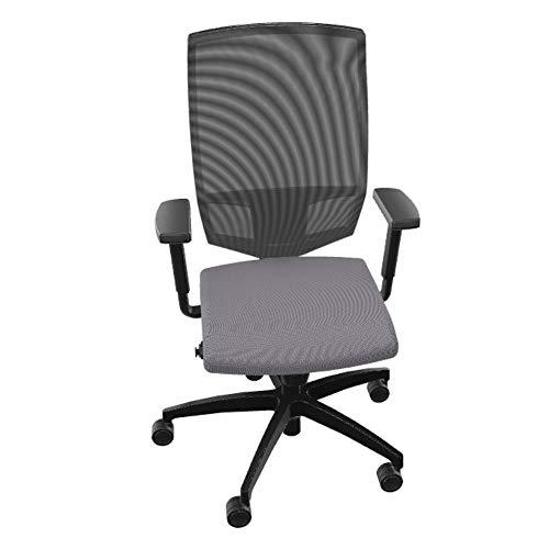 Dauphin Adjust Magic S ergonomischer Bürostuhl mit Netzrücken, fürs Home Office (grau, Ohne Nackenstütze)