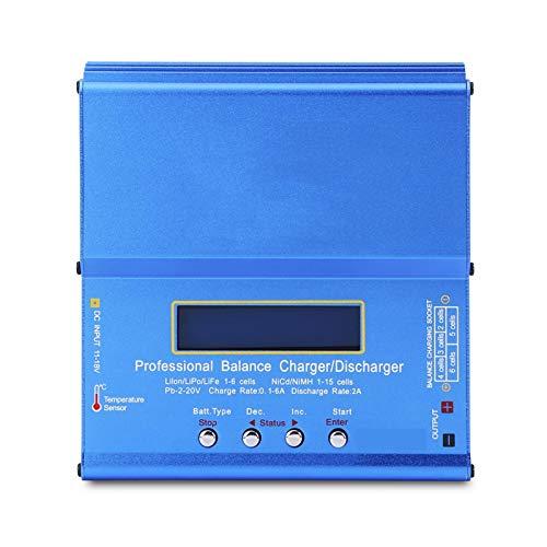 Cargador de Batería RC Metal Azul 3 Tipos Conveniente, para Nimh Nicd Lipo(U.S. regulations)
