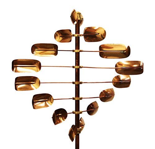 Stanwood Wind Sculpture Kinetic Copper Wind Spinner - Lucky 8 Twirler