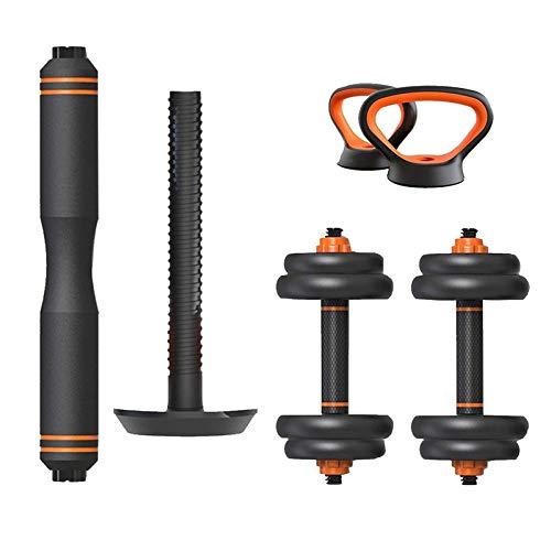 WYJW Juego de Mancuernas Fitness Dumbbell Barbell Kettlebells Push-up Stand Sets 6 en 1 Placa de Peso Ajustable Gimnasio en casa Equipo de Entrenamiento Corporal Entrenamiento para homb