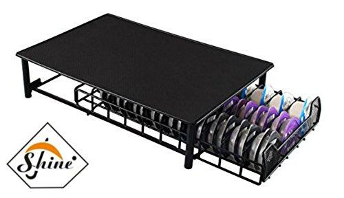 Brillance Tassimo Café Pod Support–60PC Capsules empilable Support–Anti Vibration Surface antidérapante–Filet de tiroir Rack- Black- Sert Aussi Machine à café avec Support