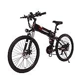 Fafrees Bicicleta Eléctrica Plegable de 26 Pulgadas 48 V 500 W, Velocidad Máxima 40 km/h, Bicicleta Eléctrica para Adultos Shimano de 21 Velocidades con Pantalla LED + Pedal de Aluminio