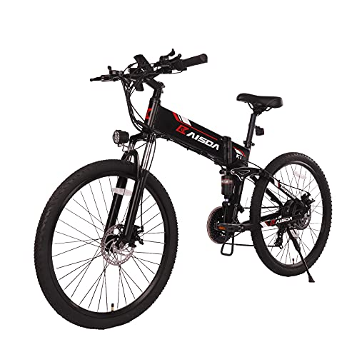 Fafrees Bicicleta Eléctrica Plegable de 26 Pulgadas 48V 500W, Velocidad Máxima 40KM...