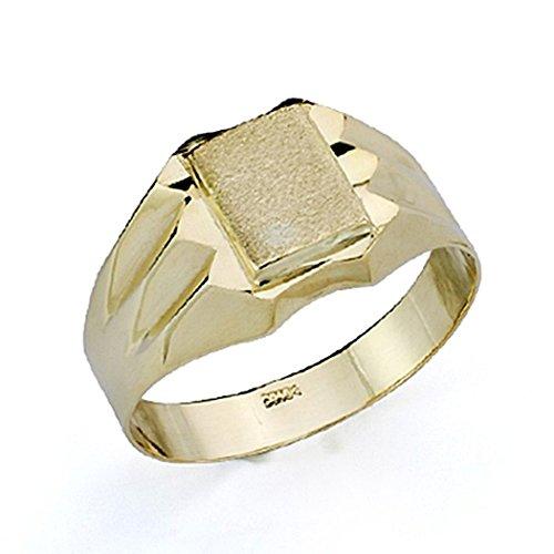 Sello oro 18k niño tallado hueco [7513]