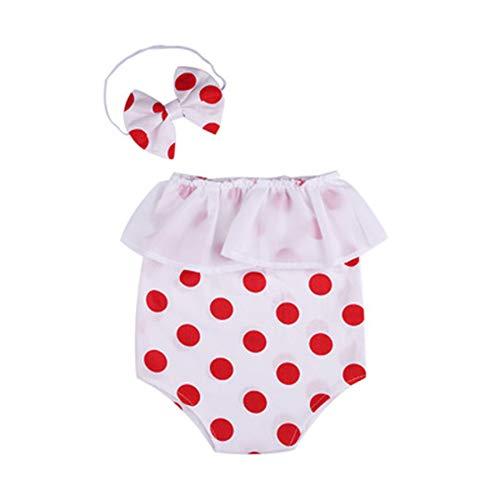 Trajes de fotografía para bebé recién Nacida niña,Disfraces Ropa Foto, Lindo Lunare Mameluco Venda 2 Piezas Traje de Chaleco de Princesa Bodysuit Photography Clothing Props