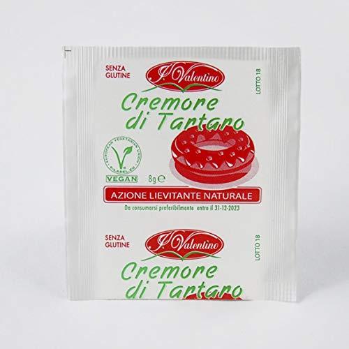 Cremore di Tartaro per dolci - 10 bustine da 8 gr - Azione Lievitante Naturale - SENZA GLUTINE
