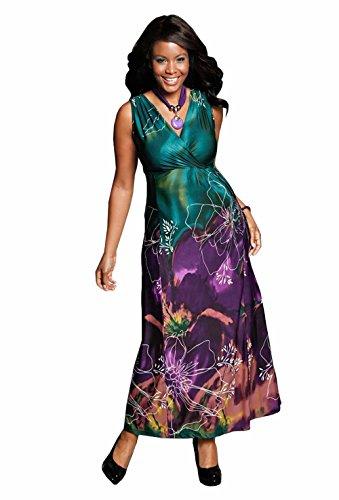 M.I.M. Damen-Kleid Abendkleid Mehrfarbig Größe 40
