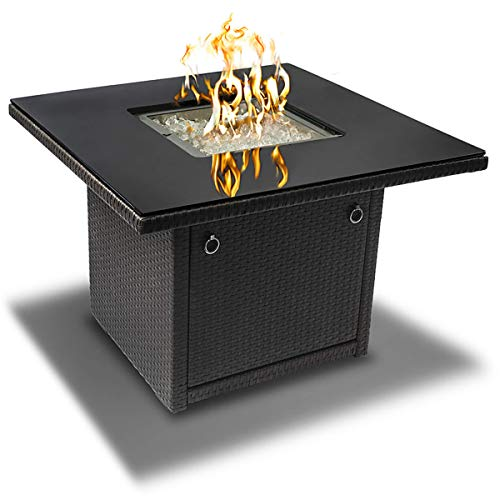 Outland Living 410 Series - 36-Inch Outdoor Propane Gas Fire Table, Slate Grey/Square