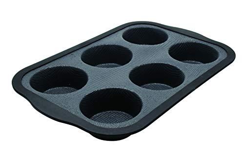 Zenker 685534 Moule à 6 Muffins en Silicone Fibre de Verre