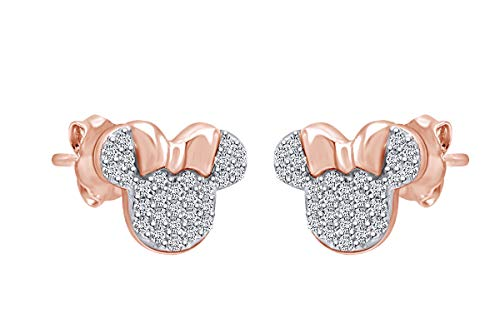 Sparkling White Cubic Zirconia Minnie Mouse Stud Earrings (62% Off)