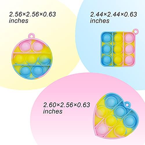 Product Image 1: COCGVEL 15 PCS Mini Fidget Popitz Toys Pack, Push Pop Bubble Fidget Sensory Stress Relief Hand Toy , Simple Dimple Fidget Sets, Poppers Fidget Toy, Bubble Popitz Toy, Fidget Keychain, Figetsss Toys