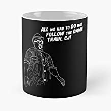 Follow The Damn Train Cj White Classic Mug - Funny Coffee Mugs For Halloween, Holiday, Christmas Party Decoration 11 Ounce White-trymeshop.