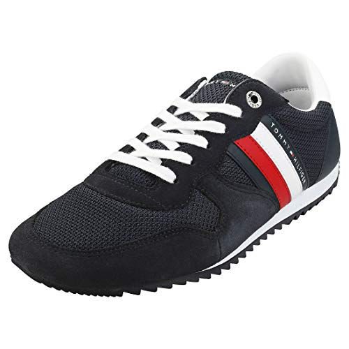 Tommy Hilfiger Herren Essential MESH Runner Sneaker, Blau (Desert Sky Dw5), 41 EU
