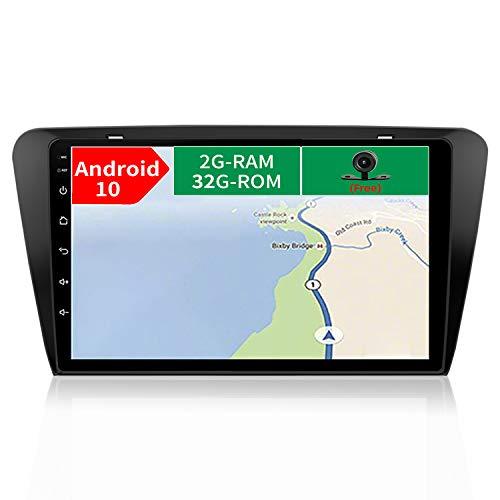 JOYX Android 10 Autoradio Compatibile con Skoda Octavia (2014-2018) - [2G+32G] - 2 Din - Telecamera Posteriore & Canbus Gratuiti - Supporto DAB/Bluetooth/Controllo del volante/WiFi/MirrorLink/Carplay