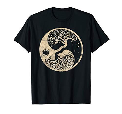 Yggdrasil Wikinger Baum Midgard Odhin Thor Wotan Walhalla T-Shirt