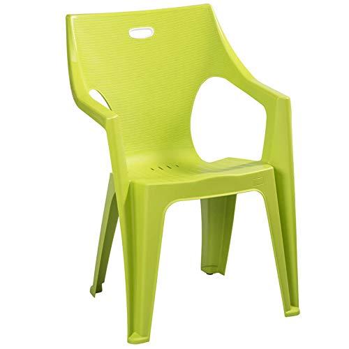 ガーデンチェアー カプリ ガーデンチェアー 1脚 ライムグリーン ( プラスチック 軽量 屋外 イス ガーデン イタリア製)