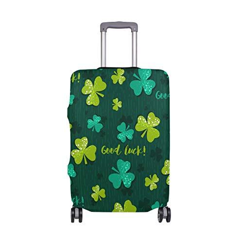 Orediy - Funda elástica para Equipaje de Viaje, diseño de tréboles de Buena Suerte con Maleta (sin Maleta), Talla S, M, L, XL, Multicolor (Multicolor) - suitcasecover