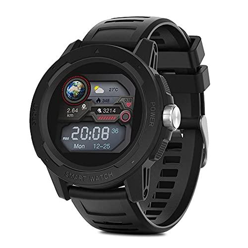 Reloj inteligente con pantalla táctil completa, rastreador de actividad a prueba de agua, monitor de sueño y ritmo cardíaco, reloj de pulsera deportivo Bluetooth para fitness para Android IOS (Black)