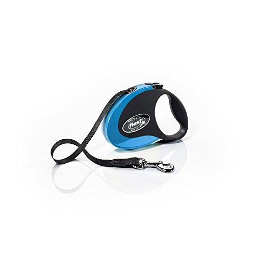 flexi Roll-Leine COLLECTION S Gurt 3 m schwarz/blau für Hunde bis max. 12 kg