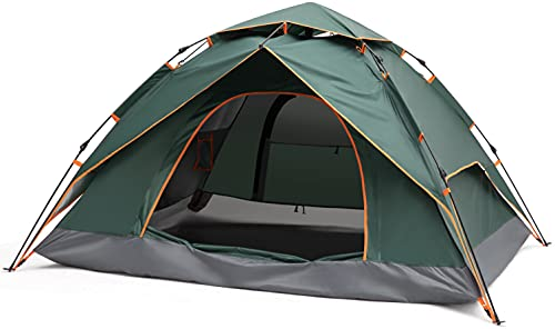SayBe Draussen Camping 2-6 Personen Zelt Doppelschichtiges Pop Up Zelt